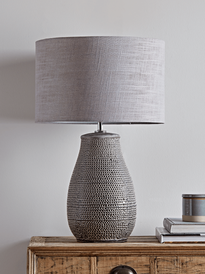 Textured Grey Lamp