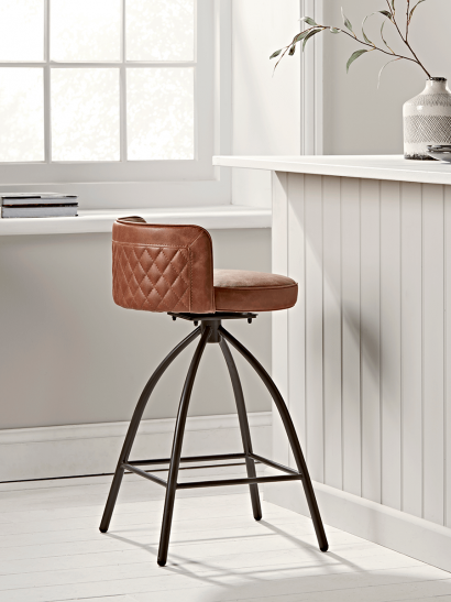 Cass Twist Counter Stool - Tan