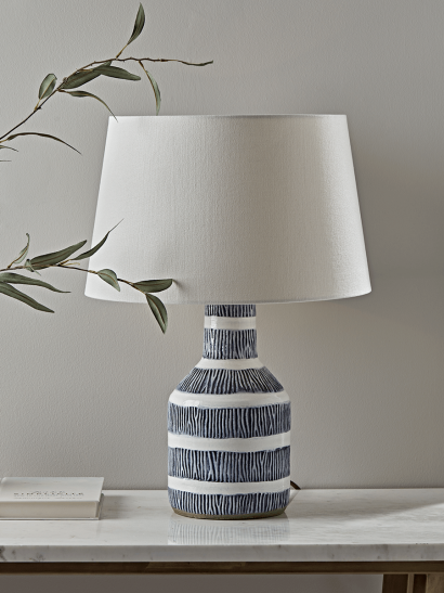 Textured Blue Table Lamp