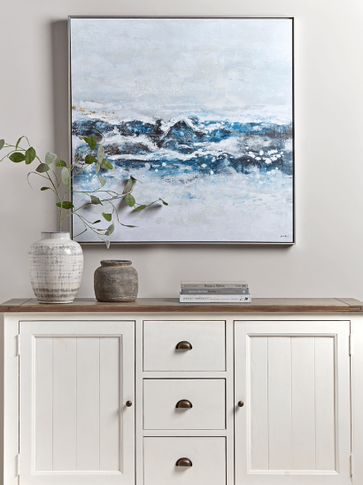 Waves Abstract Canvas