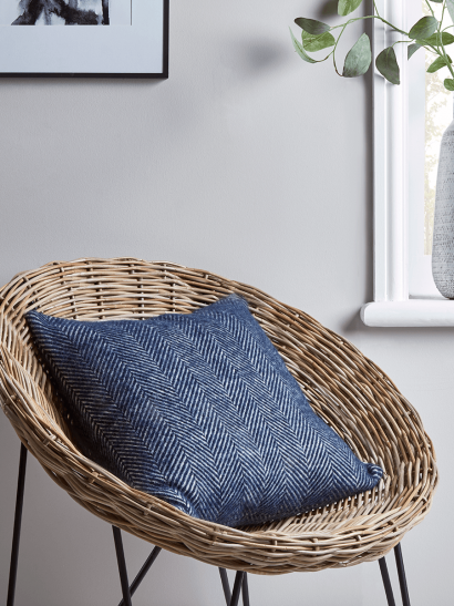 Soft Wool Cushion - Navy