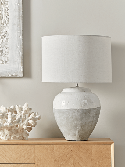Dip Glaze Table Lamp - Large