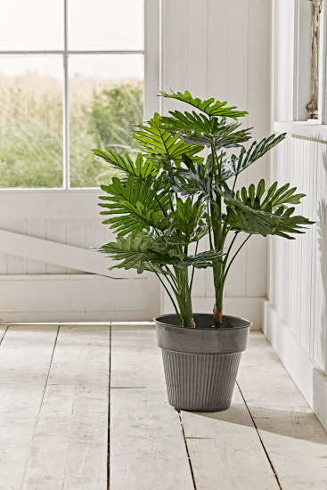 NEW Faux Potted Philodendron