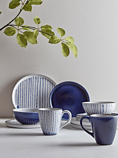 NEW Blue Hand Glazed Dinnerware