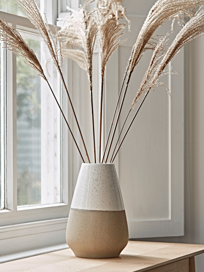 NEW Dipped Speckled Tapered Vase - White Top