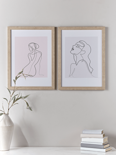NEW Two Nude Framed Prints