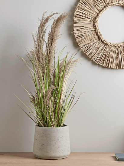 Faux Potted Pampas Grass - Small