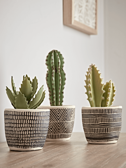 NEW Three Monochrome Planters