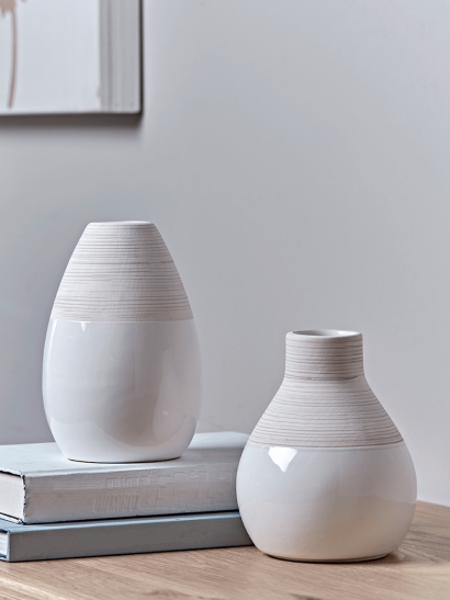NEW Two Dip Textured Bud Vases