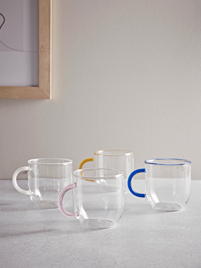Four Glass Mugs