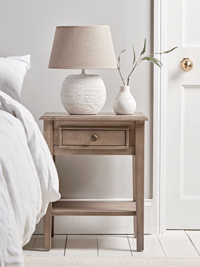 Camille Bedside Table - Limewashed