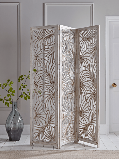 NEW Carved Leaves Screen