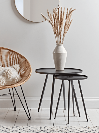 NEW Round Industrial Side Table