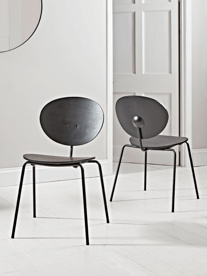NEW Two Studio Dining Chairs - Black