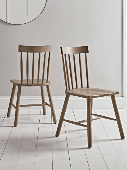 Two Fjord Oak Dining Chairs