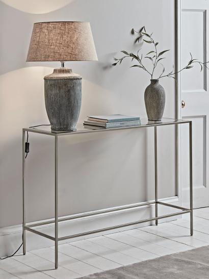 NEW Villette Console Table - Silver