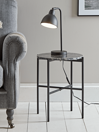 NEW Marble Side Table - Grey