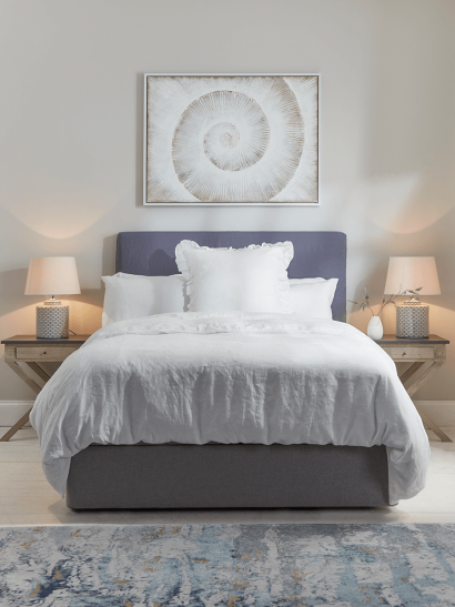 NEW Washed Linen Loose Cover & Headboard Set - Indigo