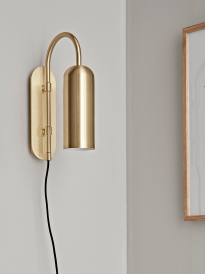 NEW Brass Deco Wall Light