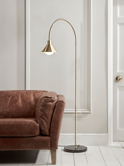 NEW Brass Cone Floor Lamp