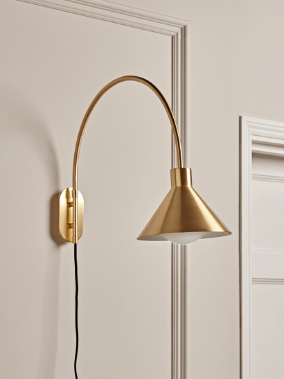 NEW Brass Cone Wall light