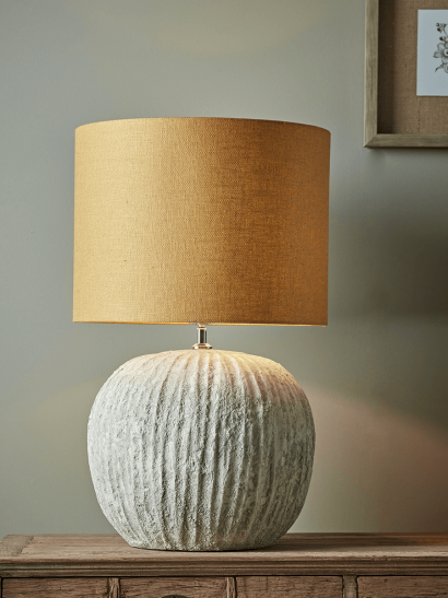 Fluted Concrete Table Lamp