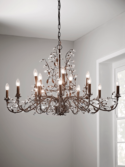 NEW Antique Bronze Distressed Chandelier