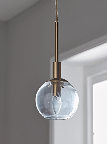 NEW Globe and Brass Pendant