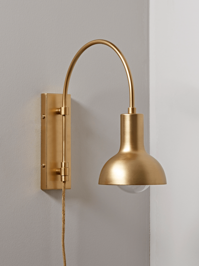 NEW Open Bulb Wall Light - Brass
