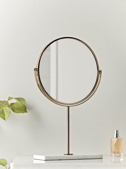 Brass & Marble Table Mirror