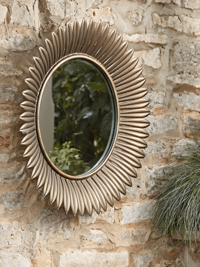 Sunburst Outdoor Mirror