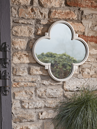 Quatrefoil Outdoor Mirror
