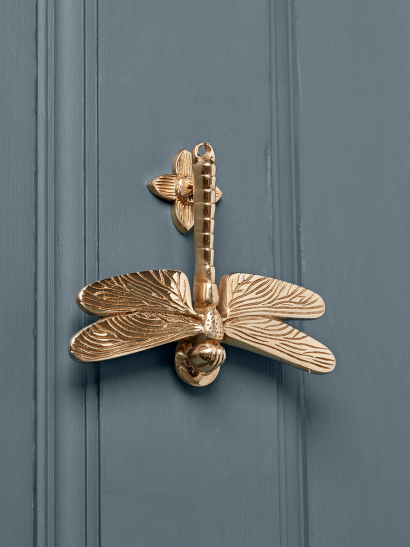 Dragonfly Door Knocker – Solid Brass