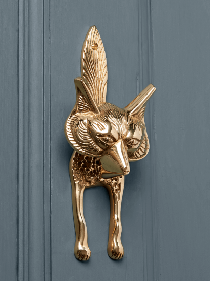 Fox Door Knocker – Solid Brass