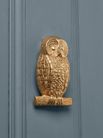 Owl Door Knocker – Solid Brass