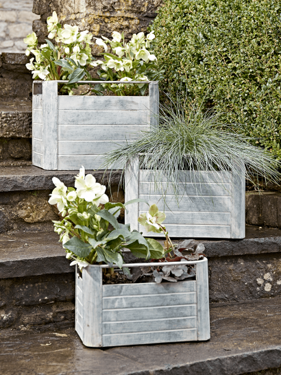 Three Zinc Crates