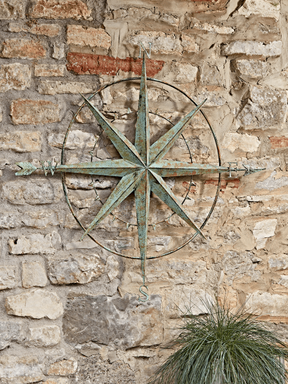 Outdoor Distressed Compass
