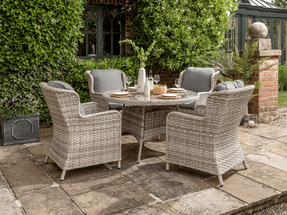 NEW Grey Weave Dining Set