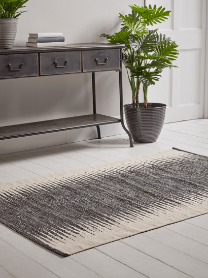 NEW Monochrome Panelled Rug