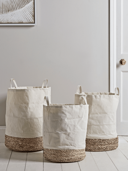 NEW Three Dipped Laundry Baskets
