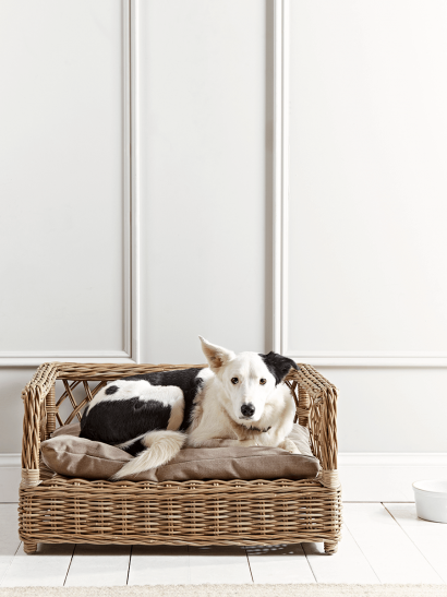 Open Weave Round Rattan Pet Basket