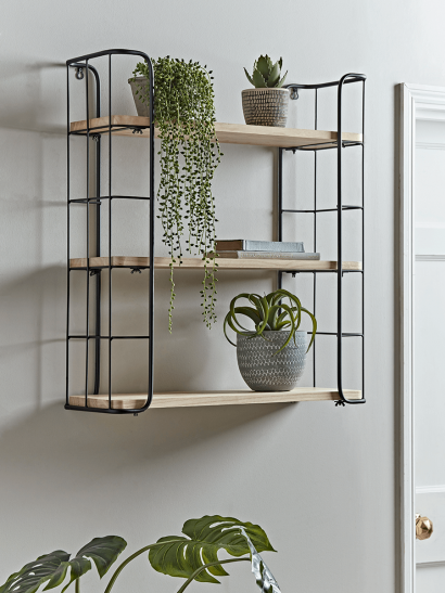 NEW Industrial Wood & Metal Shelf Unit - Large