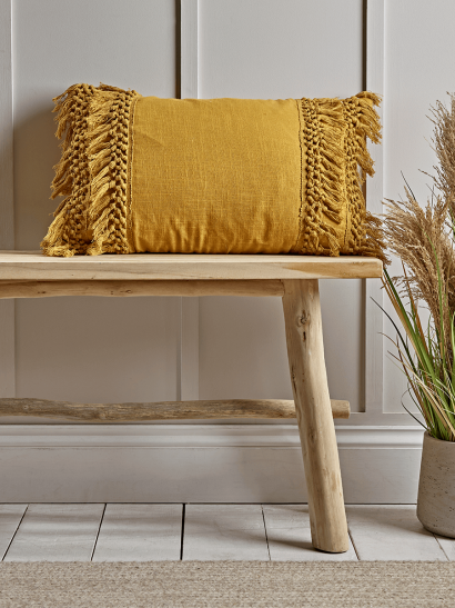 NEW Double Fringed Cushion