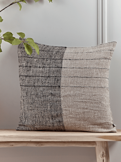 NEW Two-Tone Linen Cushion
