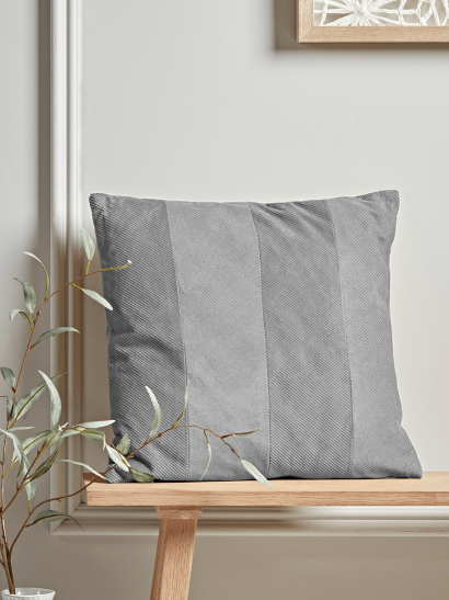 NEW Corduroy Velvet Cushion - Grey