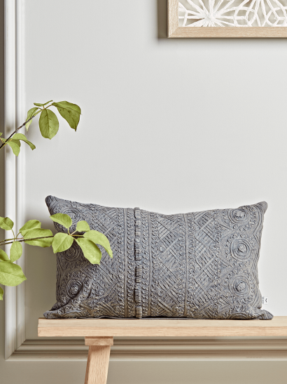 NEW Grey Textured Cushion