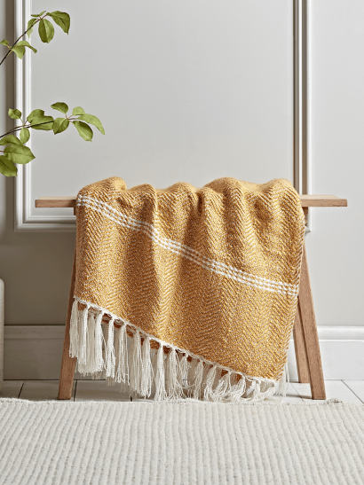 Mustard Chevron Throw