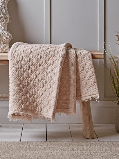 NEW Quilted Cotton Throw