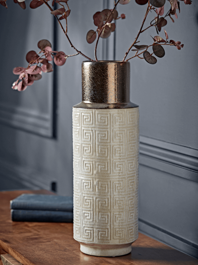 NEW Metallic Topped Geometric Vase