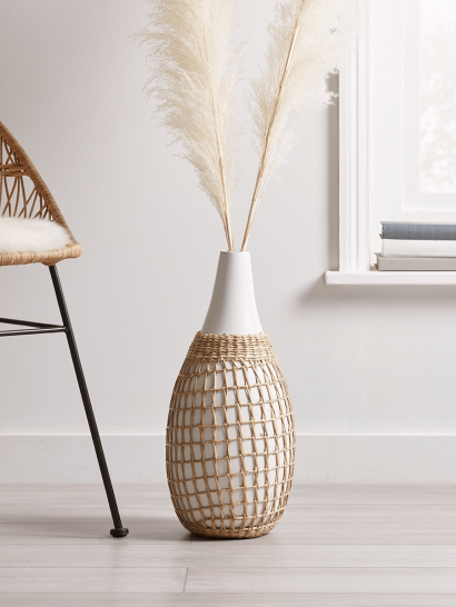 NEW Bamboo & Seagrass Vase